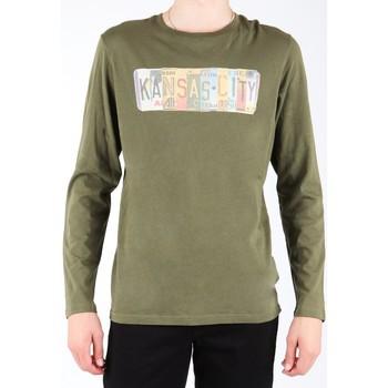 Abbigliamento Uomo T-shirts a maniche lunghe Lee L848AI oliwkowozielony