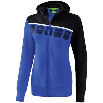Abbigliamento Donna Giacche sportive Erima Veste d'entrainement à capuche femme bleu/noir/blanc
