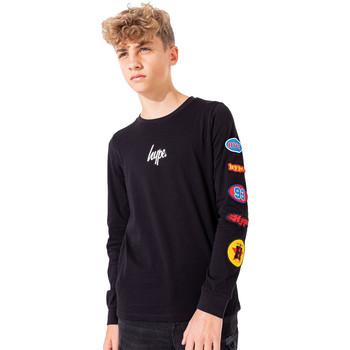 Abbigliamento Unisex bambino T-shirts a maniche lunghe Hype  Nero