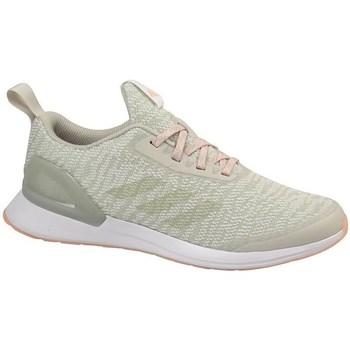 Scarpe Unisex bambino Running / Trail adidas Originals Rapidarun X Knit J Beige, Olivina