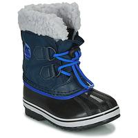 Scarpe Unisex bambino Stivali da neve Sorel CHILDRENS YOOT PAC NYLON Blu