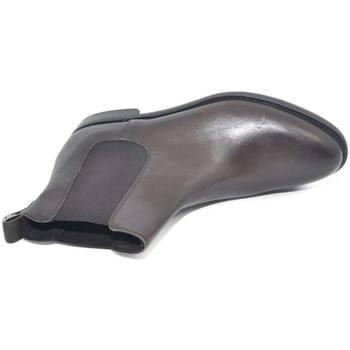 Scarpe Uomo Stivaletti Malu Shoes SCARPE UOMO BEATLES VERO PELLE NAPPA TESTA DI MORO SPAZZOLATO F MARRONE