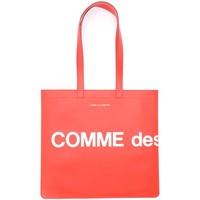 Borse Donna Tote bag / Borsa shopping Comme Des Garcons Borsa Shopping  Huge Logo in pelle Rosso