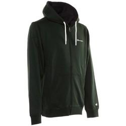 Abbigliamento Uomo Felpe Champion Felpa Full Zip Con Cappuccio Logo Verde