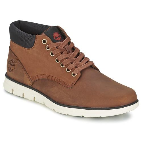 Scarpe Uomo Sneakers alte Timberland BRADSTREET CHUKKA LEATHER Marrone