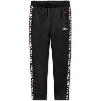 Abbigliamento Unisex bambino Pantaloni da tuta Fila Pantaloni Junior Acetato con Bande Nero