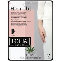 Bellezza Donna Trattamento mani e piedi Iroha Nature Cannabis Hand & Nail Mask Glove Repairing & Relaxing 1 pair