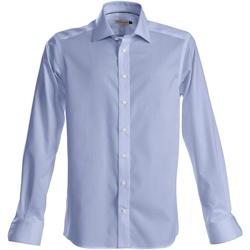 Abbigliamento Uomo Camicie maniche lunghe J Harvest & Frost Green Bow Azzurro cielo