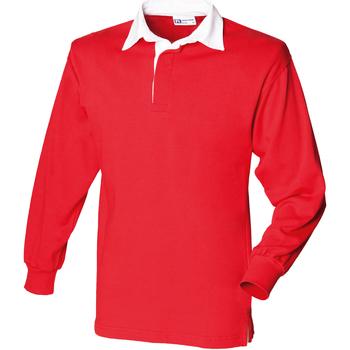 Abbigliamento Unisex bambino Polo maniche lunghe Front Row  Rosso