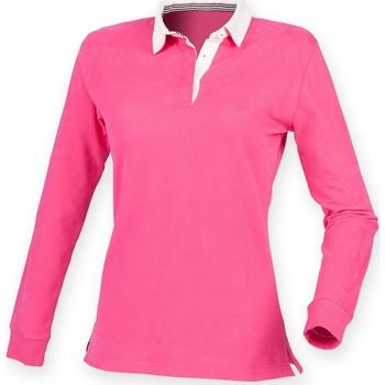 Abbigliamento Donna Polo maniche lunghe Front Row FR105 Rosa
