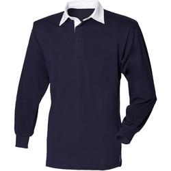 Abbigliamento Unisex bambino Polo maniche lunghe Front Row  Blu navy