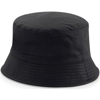 Accessori Cappelli Beechfield B686 Nero/Grigio Chiaro