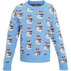 Abbigliamento Bambina Felpe Christmas Shop CS027 Azzurro