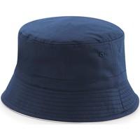 Accessori Cappelli Beechfield B686 Blu/Bianco