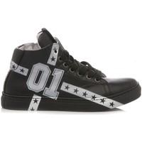 Scarpe Unisex bambino Sneakers alte Be Kool Sneakers Bambino Pelle Nero nero