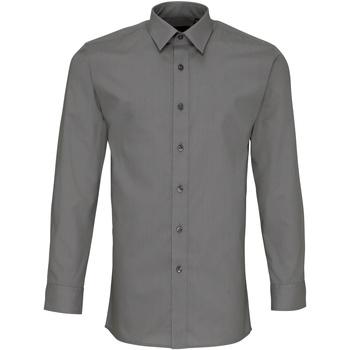 Abbigliamento Uomo Camicie maniche lunghe Premier PR204 Grigio scuro