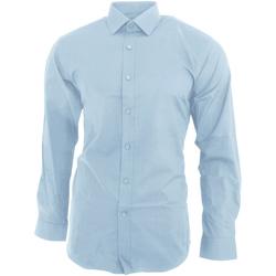 Abbigliamento Uomo Camicie maniche lunghe Brook Taverner BK130 Azzurro cielo