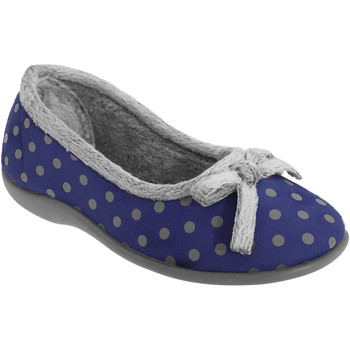 Scarpe Donna Pantofole Sleepers Polka Blu navy