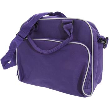 Borse Unisex bambino Cartelle Bagbase BG145 Viola/Grigio chiaro
