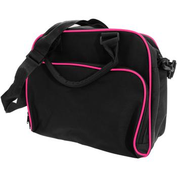 Borse Unisex bambino Cartelle Bagbase BG145 Nero/Fucsia
