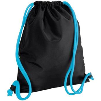 Borse Unisex bambino Borse da sport Bagbase BG110 Nero/Azzurro