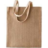 Borse Donna Tote bag / Borsa shopping Kimood KI009 Naturale/Cappuccino