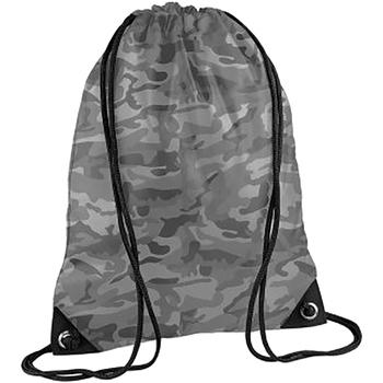 Borse Unisex bambino Borse da sport Bagbase BG10 Mimetica grigio