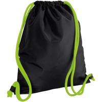 Borse Unisex bambino Borse da sport Bagbase BG110 Nero/Lime