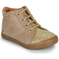 Scarpe Bambina Sneakers alte GBB NAHIA Beige / Oro