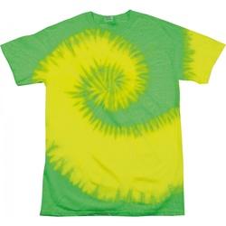 Abbigliamento Donna T-shirt maniche corte Colortone Rainbow Giallo fluorscente/Lime