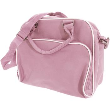 Borse Unisex bambino Cartelle Bagbase BG145 Rosa/Grigio chiaro