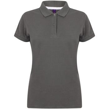 Abbigliamento Donna Polo maniche corte Henbury HB102 Carbone