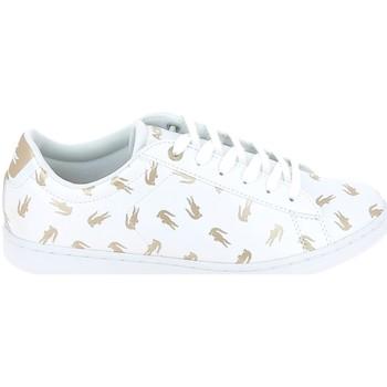 Scarpe Unisex bambino Sneakers basse Lacoste Carnaby Evo C Blanc Or Bianco