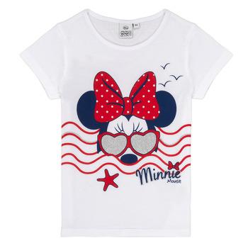 Abbigliamento Bambina T-shirt maniche corte TEAM HEROES MINNIE Bianco