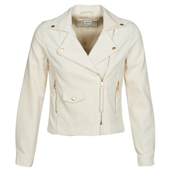 Abbigliamento Donna Giacca in cuoio / simil cuoio Only ONLBIANCA Beige