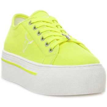Scarpe Donna Sneakers basse Windsor Smith RUBY CANVAS NEON YELLOW Giallo