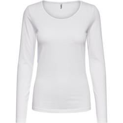 Abbigliamento Donna T-shirts a maniche lunghe Only 15204712 Bianco