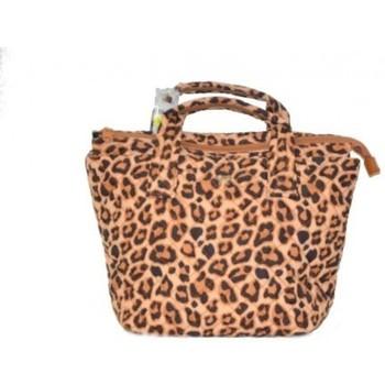 Borse Donna Tote bag / Borsa shopping Y Not? Borsa Handy Shopping trapuntato leopard Altri