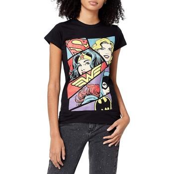 Abbigliamento Donna T-shirt maniche corte Justice League  Nero