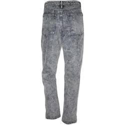Abbigliamento Donna Jeans slim Malu Shoes Jeans donna momfit a vita alta high waist lavaggio scuro misto NERO