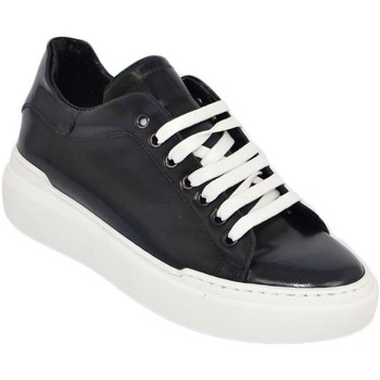 Scarpe Uomo Sneakers basse Malu Shoes Sneakers uomo bassa linea basic in vera pelle abrasivata blu co BLU