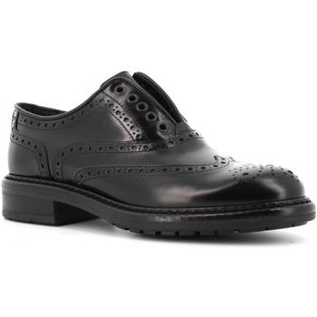 Scarpe Donna Derby Antica Cuoieria scarpe donna inglesine 19690-M-D10 MONACO NERO Pelle