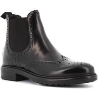 Scarpe Donna Stivaletti Antica Cuoieria scarpe donna polacchini 19483-N-D10 MONACO NERO Pelle