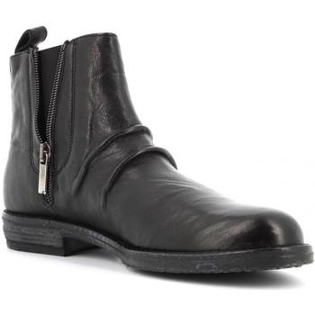 Scarpe Donna Stivaletti Antica Cuoieria scarpe donna stivaletti 20908-O-AM4 OYSTER NERO Pelle