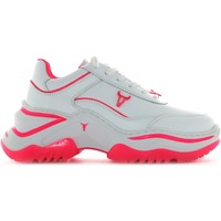 Scarpe Donna Sneakers basse Windsor Smith scarpe donna sneakers basse CHAOS BIANCO-FUCSIA Pelle