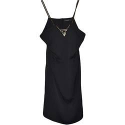 Abbigliamento Donna Abiti lunghi Malu Shoes Abito vestito donna tubino da sera midi con scollo a V e bretel NERO