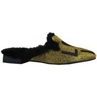 Scarpe Donna Pantofole Thewhitebrand Loafer sand gold Oro