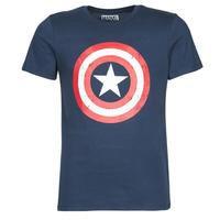 Abbigliamento Uomo T-shirt maniche corte Yurban CAPTAIN AMERICA LOGO Marine