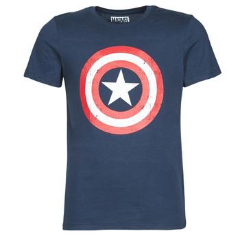 Abbigliamento Uomo T-shirt maniche corte Casual Attitude CAPTAIN AMERICA LOGO Marine