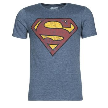 Abbigliamento Uomo T-shirt maniche corte Casual Attitude SUPERMAN LOGO VINTAGE Marine
